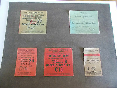 The Beatles Ticket Collection X5 1963/64 (Not Reproductions)