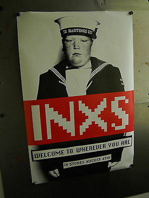 INXS 2-sided 1992 PROMO POSTER Wherever You Are MINT!!