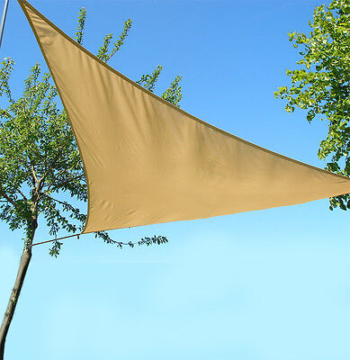 Sun Shade Triangle Sail Water Resistant Canopy Patio Awning Garden UV Block 3.6m