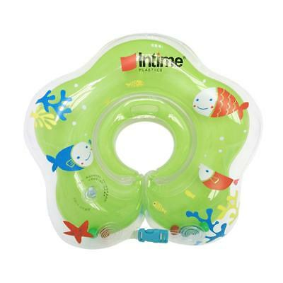 Green Inflatable Neck Float Ring Adjustable Baby Swimming Safety Supplies