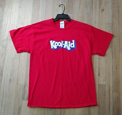 Original Kool-Aid Drink Mens LARGE Vintage T-Shirt Red VTG Rare Retro