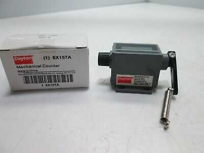 New In Box Dayton 6X157A Mechanical Counter, 5-Digit, Manual Reset