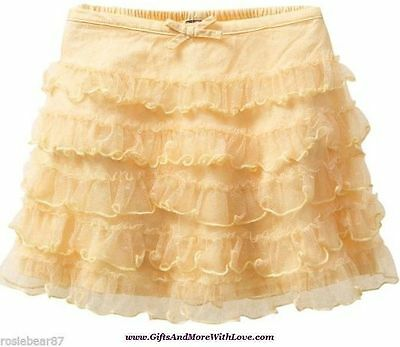 Baby Gap NWT Yellow HOLIDAY TULLE RUFFLE TIERED DRESS SKIRT BOTTOMS 6 9 12 18 24