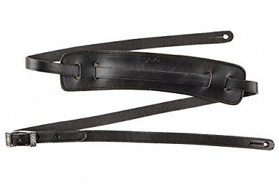Genuine Fender Deluxe Vintage Adjustable Leather Guitar Strap - Black