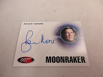 2017 James Bond Archives Final Edition Roger Moore as James Bond Autograph A223