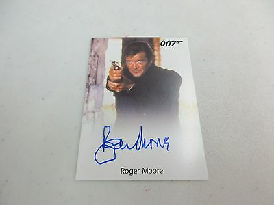 2017 James Bond Archives Final Edition Roger Moore as Bond Full Bleed Autograph