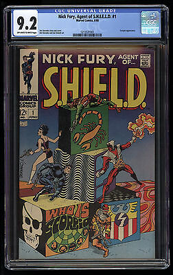 Nick Fury Agent of SHIELD (1968) #1 CGC 9.2 OW/W Pages Scorpio Jim Steranko Blue