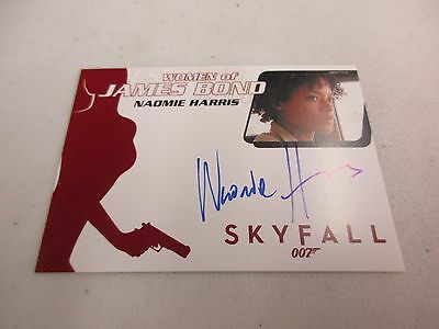 2017 James Bond Archives Final Edition Naomie Harris / Moneypenny Autograph WA54