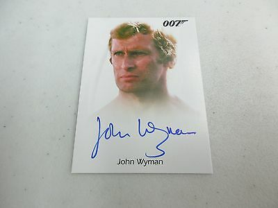 2017 James Bond Archives Final Edition John Wyman as Eric Kreigler Autograph
