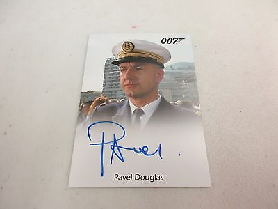 2017 James Bond Archives Final Edition Pavel Douglas as French Captain Autograph