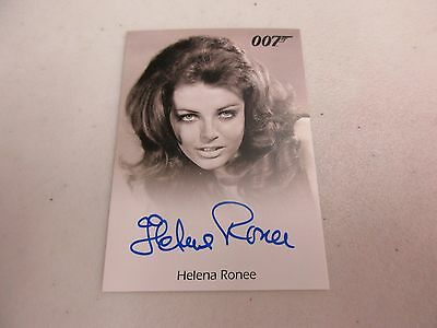 2017 James Bond Archives Final Edition Helena Ronee as Israeli Girl Autograph