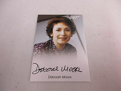 2017 James Bond Archives Final Edition Deborah Moore Flight Attendant Autograph