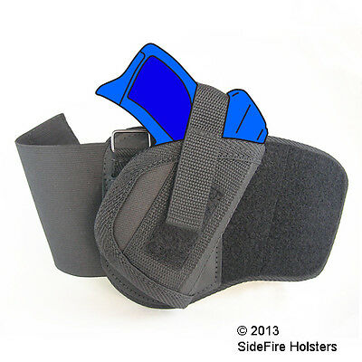 SideFire Ankle Holster Kahr CM9, PM9 with Crimson Trace Laser - Watch Video