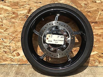 "Harley-Davidson 2009-2017 19"" Black Chrome Agressor, Wheel, Tire, Rotors ABS  #3"