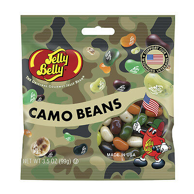 Jelly Belly Candy - Camo Beans  Gourmet Jelly Bean Candies  Gift Idea  3.5oz bag
