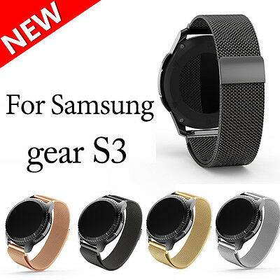 New Magnetic Milanese Stainless Steel Watch Band Strap For Samsung Gear S3