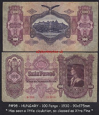 P# 98  HUNGARY   100 Pengo * 1930   Has seen a little use,     classed X/F