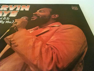 ** Signed ** Marvin Gaye - How Sweet It Is ...lp Ex!!! Uk Mfp With Autograph !!!