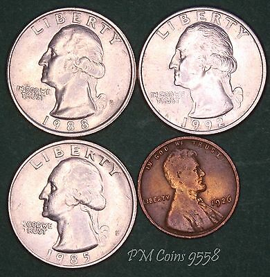 USA US coin set, United States Coin collection, quarters & one cent *[9558]
