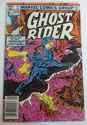 Marvel Ghost Rider #76 BRONZE AGE (1983) NEARMINT NM 9.4 CREAM PAGES