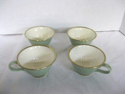 Taylor Smith & Taylor Classic Heritage Green Cups Set of 4