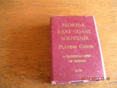 Vintage Antique deck of Florida East Coast Souvenir Playing Cards see all pic.