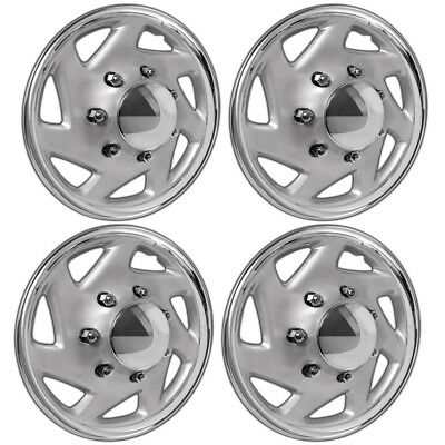"FORD 4x4 4WD Set of 4 Truck Van 16"" 8 Lug Full Covers Rim Hub Caps Steel Wheel"