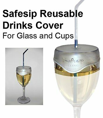 NRS Healthcare Clear Safesip Drinks Glass and Cups Cover