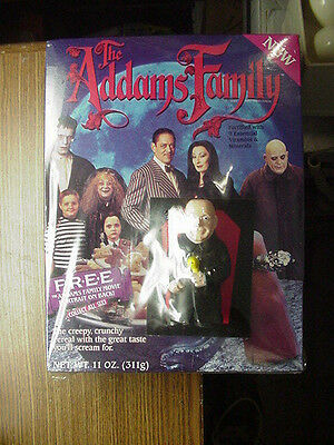 Vintage 1991 The Addams Family Cereal Box Sealed with Uncle Fester Flashlight