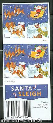 United States 2011 Santa & Sleigh   Booklet Of 20    Imperforated  Mint Nh