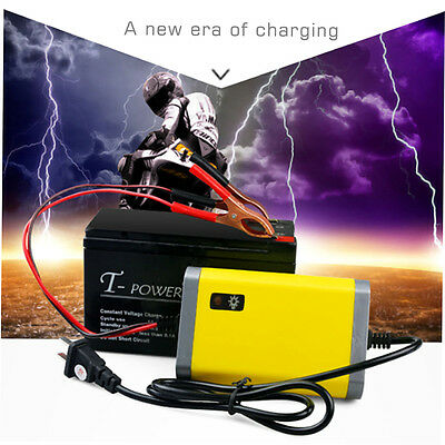 Car Battery Charger Motorcycle Accessory 12V 2A Automatic Power Supply HT
