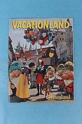 Vintage Summer 1961 Disneyland Vacationland Magazine