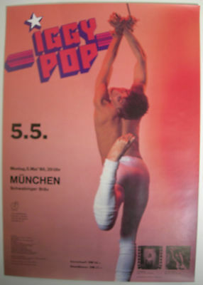 Iggy Pop Concert Tour Poster 1980 Soldier New Values