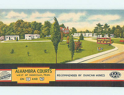 Unused Linen ALHAMBRA COURTS MOTEL Knoxville Tennessee TN M5653-22