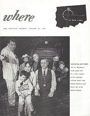 "Colleen Dewhurst ""ALL THE WAY HOME"" Arthur Hill 1960 New York's ""Where"" Magazine"