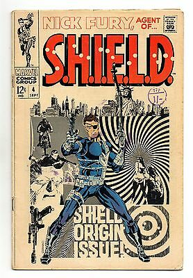 Nick Fury Agent of Shield Vol 1 No 4 Sep 1968 (FN-) Silver Age, Steranko Cover