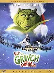 How the Grinch Stole Christmas Jim Carrey (DVD, 2001, Collector's Edition) WS