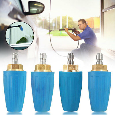1/4'' Quick Connect High Pressure Washer Cleaner Spray Turbo Nozzle Tip 3000PSI