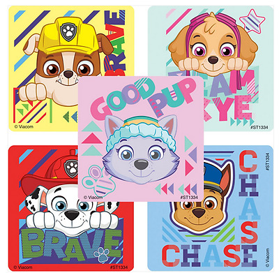 """25 Paw Patrol Sports Stickers, 2.5"""" x 2.5"""" each, Party Favors"""