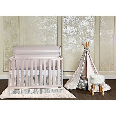 Dream On Me Bailey Blush Pink 5-in-1 Convertible Crib