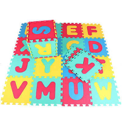 26pcs Letter Play Area Puzzle Mat Foam Playmat Kids Safety Baby Room Floor