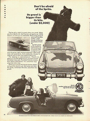 1966 Vintage ad for MG (Sprite) /Austin Healey/Convertible (081413)