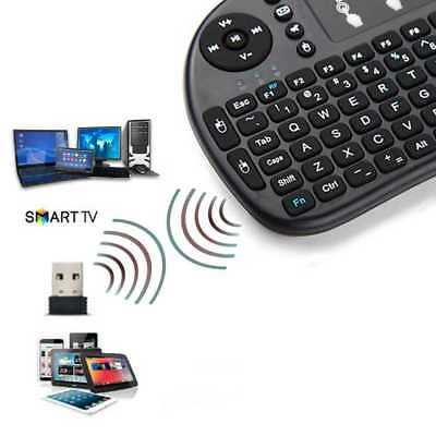 Teclado Inalambrico Touchpad Wireless NO Bluetooth para Smart TV Samsung Negro
