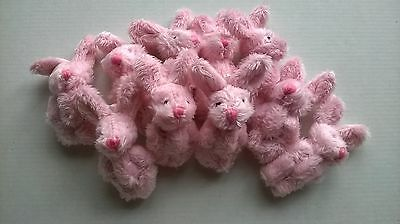 Rabbits Pink Fluffy x 10 SLIGHT  SECONDS, DOLLS HOUSE MINIATURES (F1063)