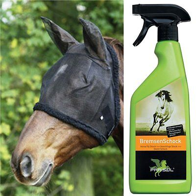 Insect protection for Horses - Set with hood and Spray Fly hood Fly Spray