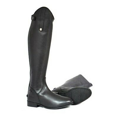 MARK TODD LONG LEATHER RIDING BOOTS BLACK horse rider wear standard wide calf