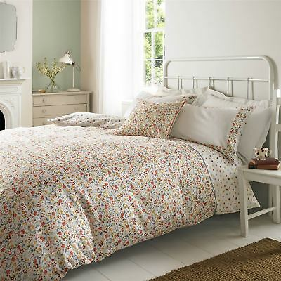 Emma Bridgewater Spring Floral Spotted 100% Cotton Duvet Quilt Cover Bedding Set