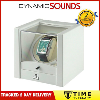 Time Tutelary Watch Winder KA079 For 1x Single Automatic Watch White