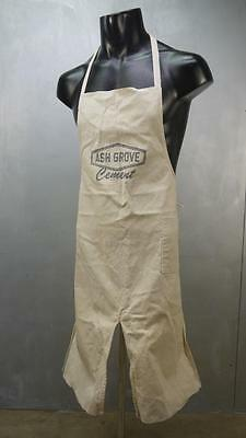 Vintage Cotton OLD Farriers Advertising APRON WORK WEAR Ash Grove CEMENT