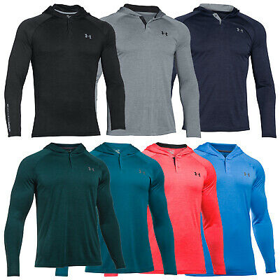 Under Armour Mens Tech Popover Henley Hoodie - New Ua Pullover Jumper Top 2017
